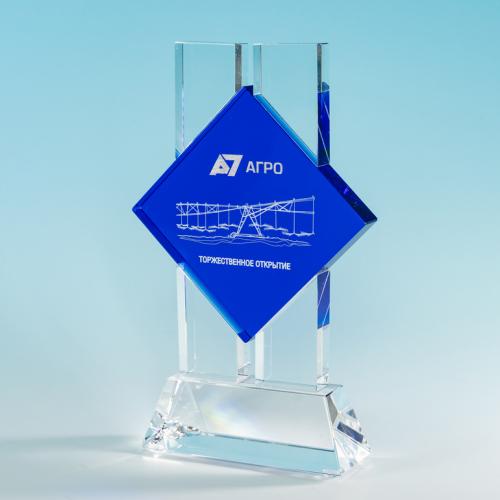 Награда со вставкой из цветного стекла