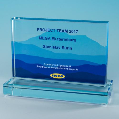Наградная рамка из стекла IKEA